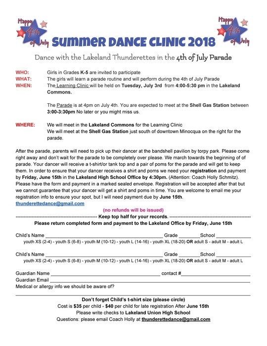Summer Dance Clinic 2018