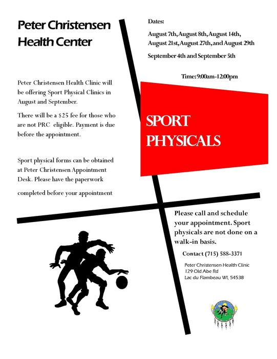 PCHC Sport Physicals available.