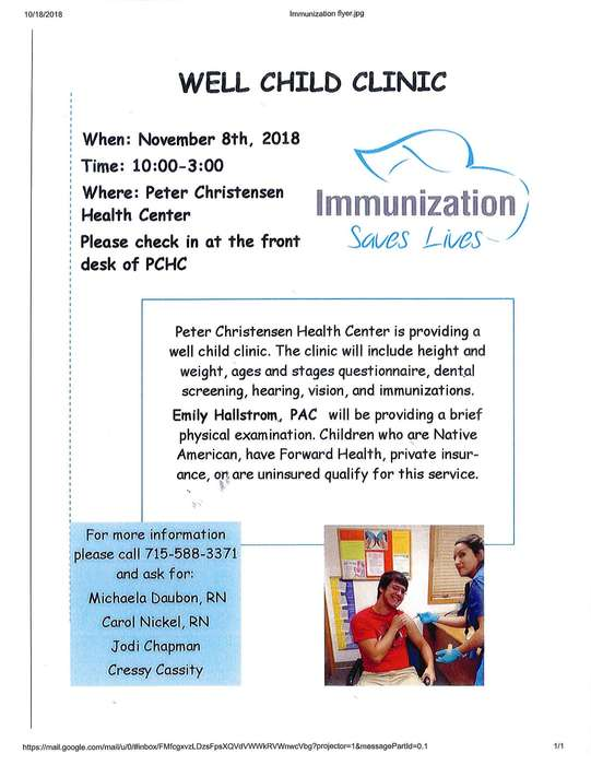 November Well Child Clinic