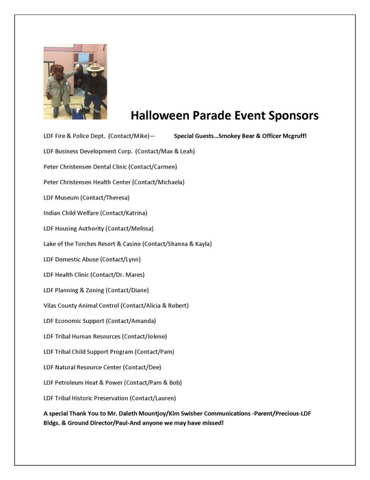 Halloween Parade Event Sponsors
