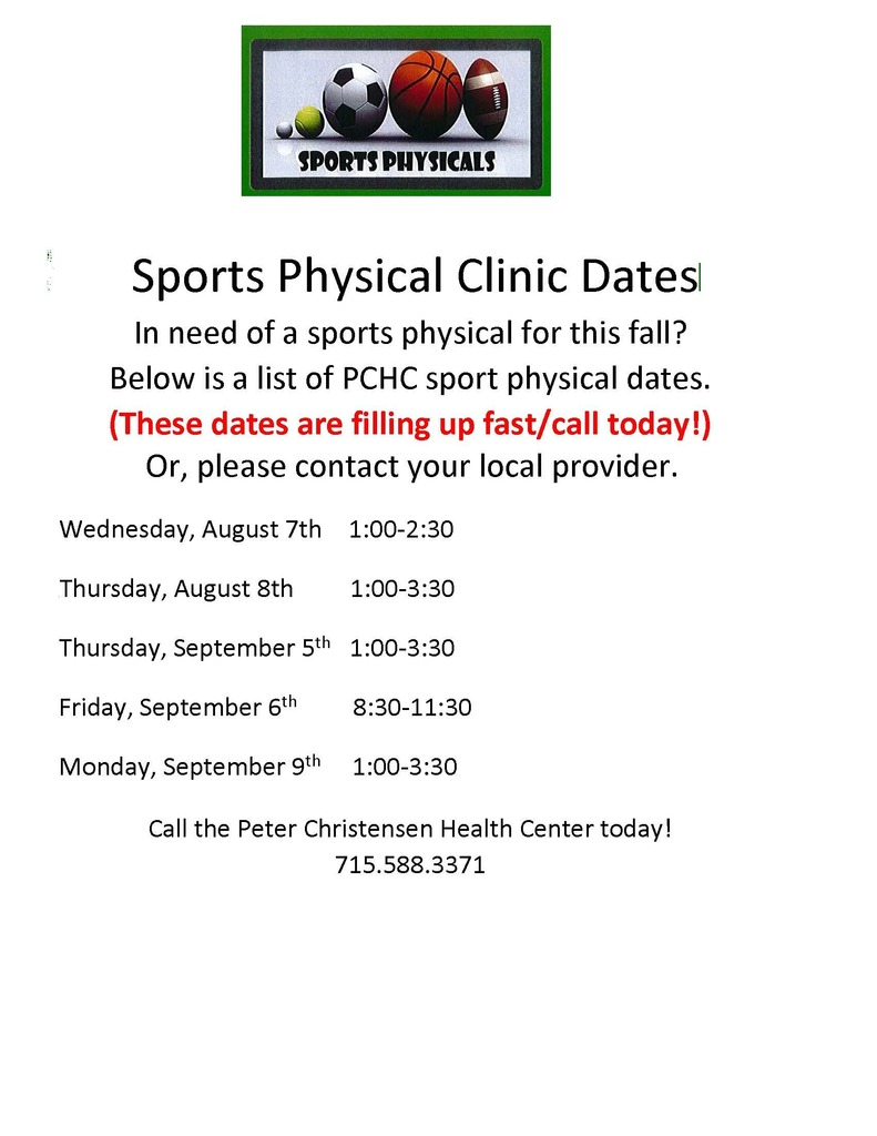 Sport Physicals PCHC