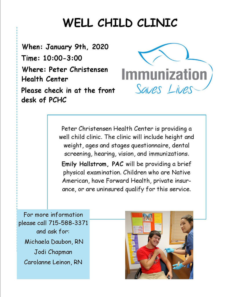 Well Child Clinic for January