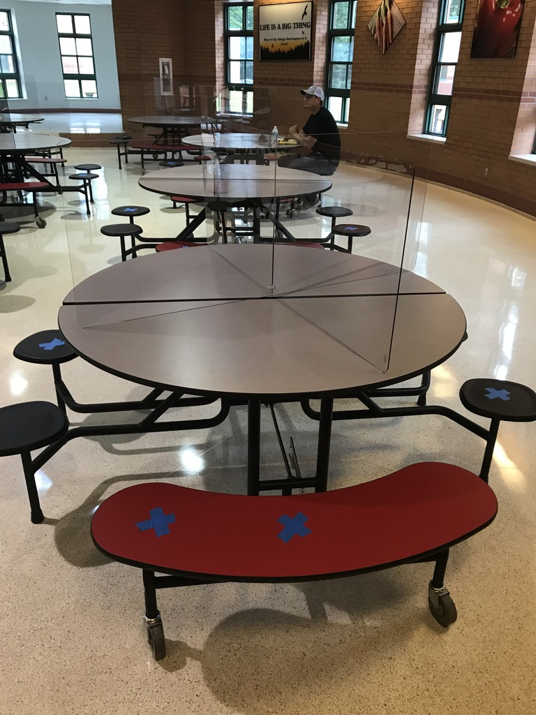 Cafeteria Table Dividers (Only 4 students per table from the same classroom cohort)